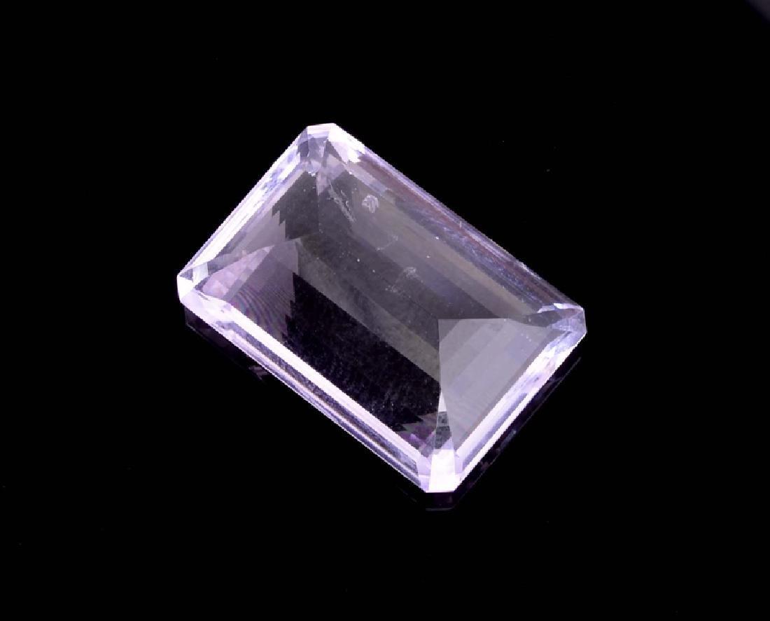 APP: 0.8k 26.00CT Emerald Cut Amethyst Quartz Gemstone - 2