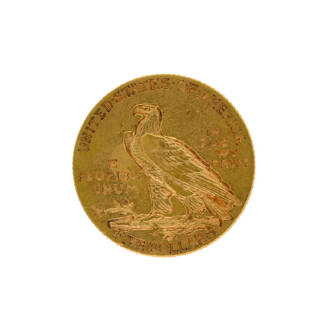 *1908 $5 Indian Head Gold Coin (DF) - 2