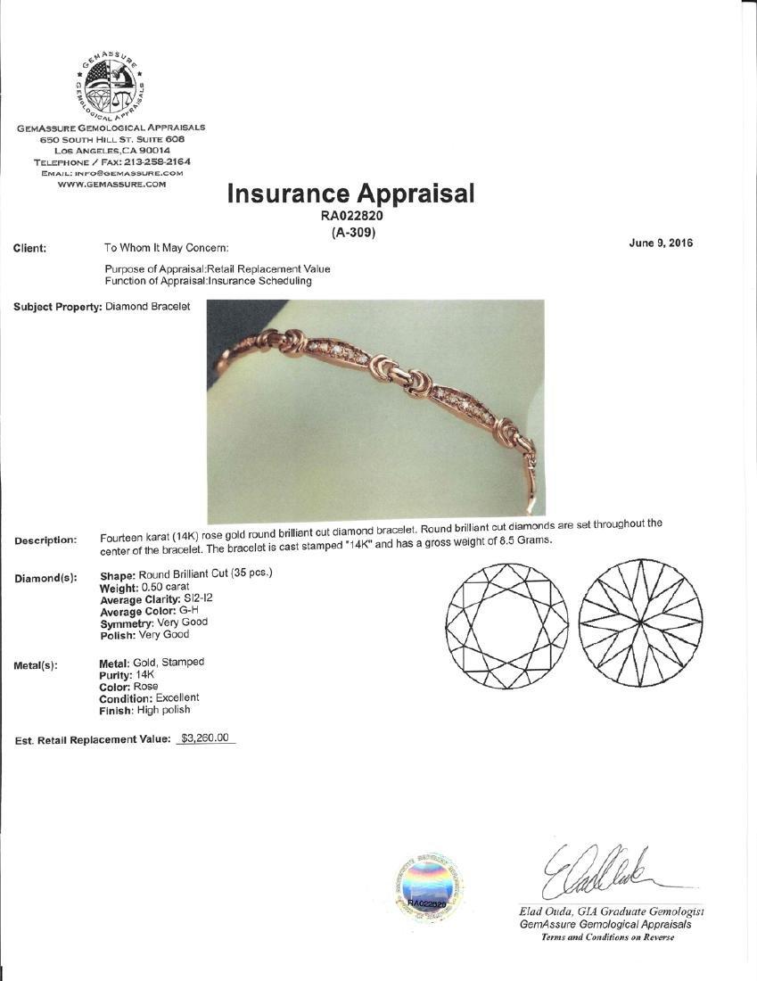 APP: 3.3k *Fine Jewelry 14KT Rose Gold, 0.50CT Round - 2