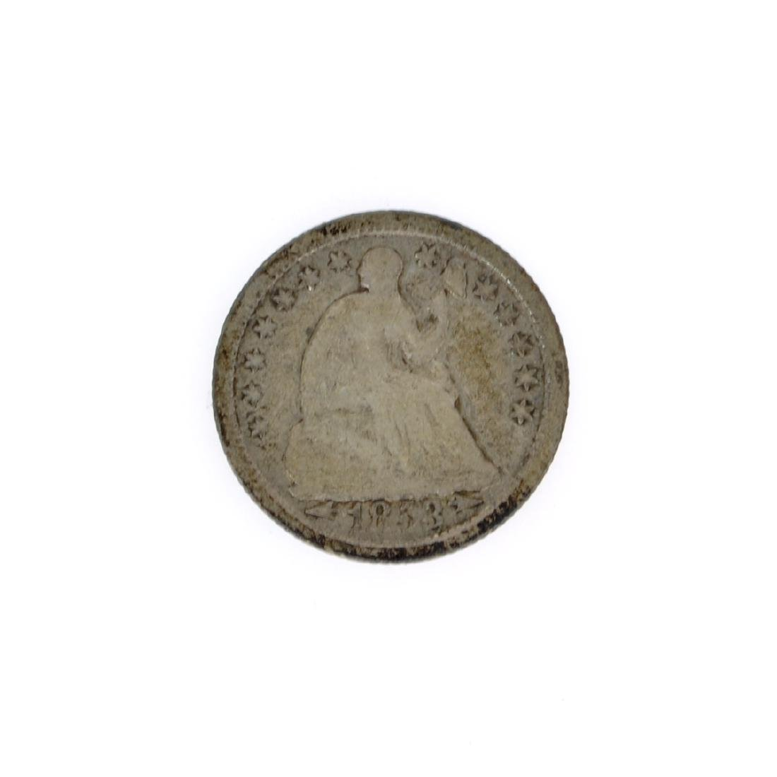 Rare 1853 Arrows At Date Liberty Seated Half Dime Coin