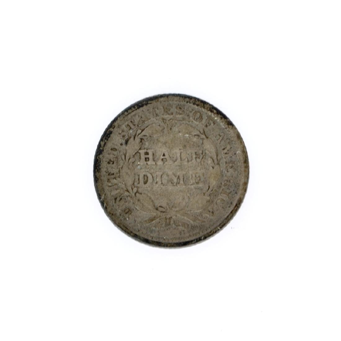 Rare 1853 Arrows At Date Liberty Seated Half Dime Coin - 2
