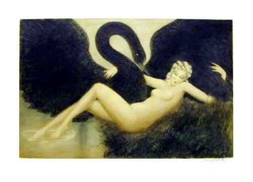 28: ICART Print - Leda & The Swan