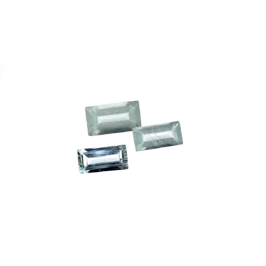 APP: 1k 2.58CT Rectangular Cut Aquamarine Parcel