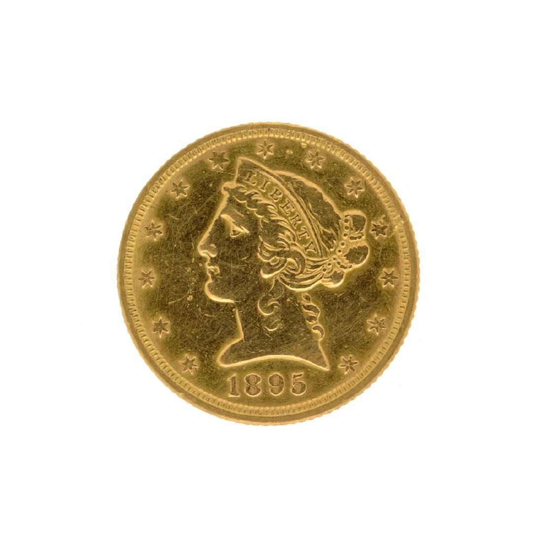 *1895 $5 Liberty Head Gold Coin (DF)
