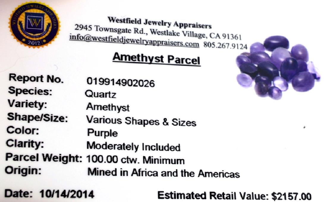 APP: 2.2k 100.00CT Various Shapes And Sizes Amethyst - 2