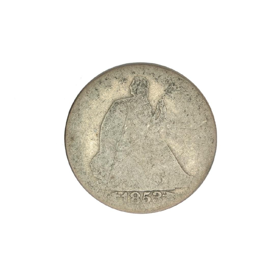 1853 Liberty Seated Arrows At Date Half Dollar Coin