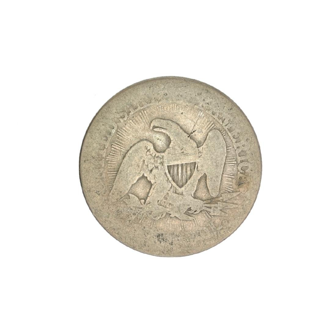 1853 Liberty Seated Arrows At Date Half Dollar Coin - 2