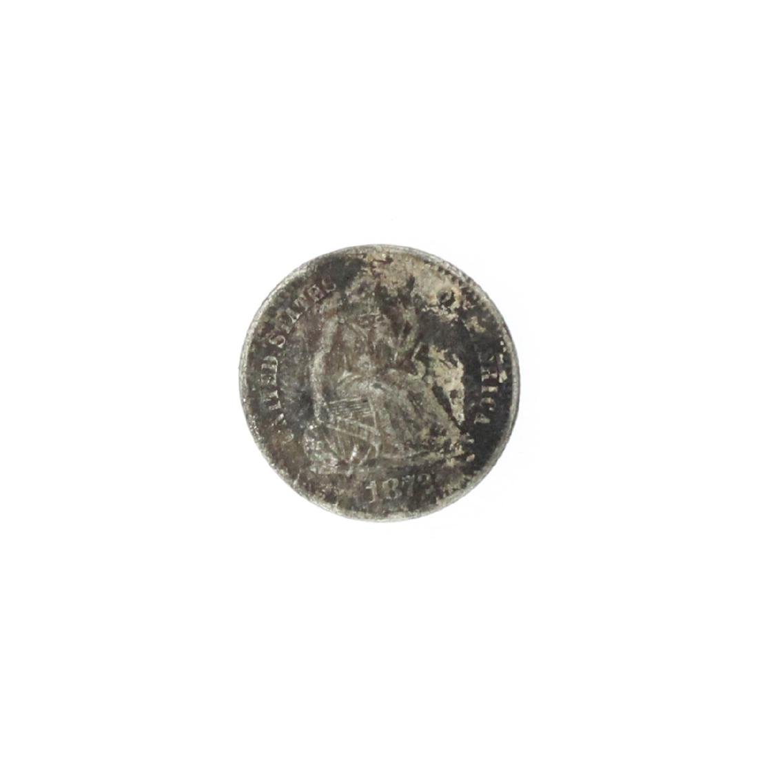 1872 Liberty Seated Half Dime Coin