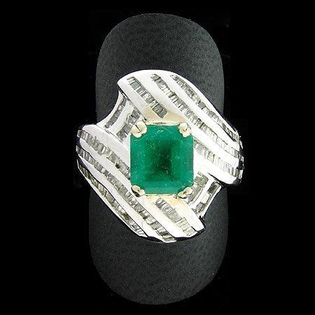 2002: APP: $25.2K, 1.67CT Emerald 1.81CT Dia. Ring