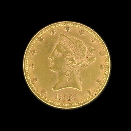 2008: 1881 $10 US Gold Coin, COLLECT!
