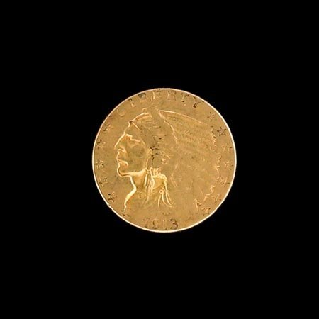 2022: GOV: 1913 $2.5 US Indian Head Gold Coin, COLLECTA