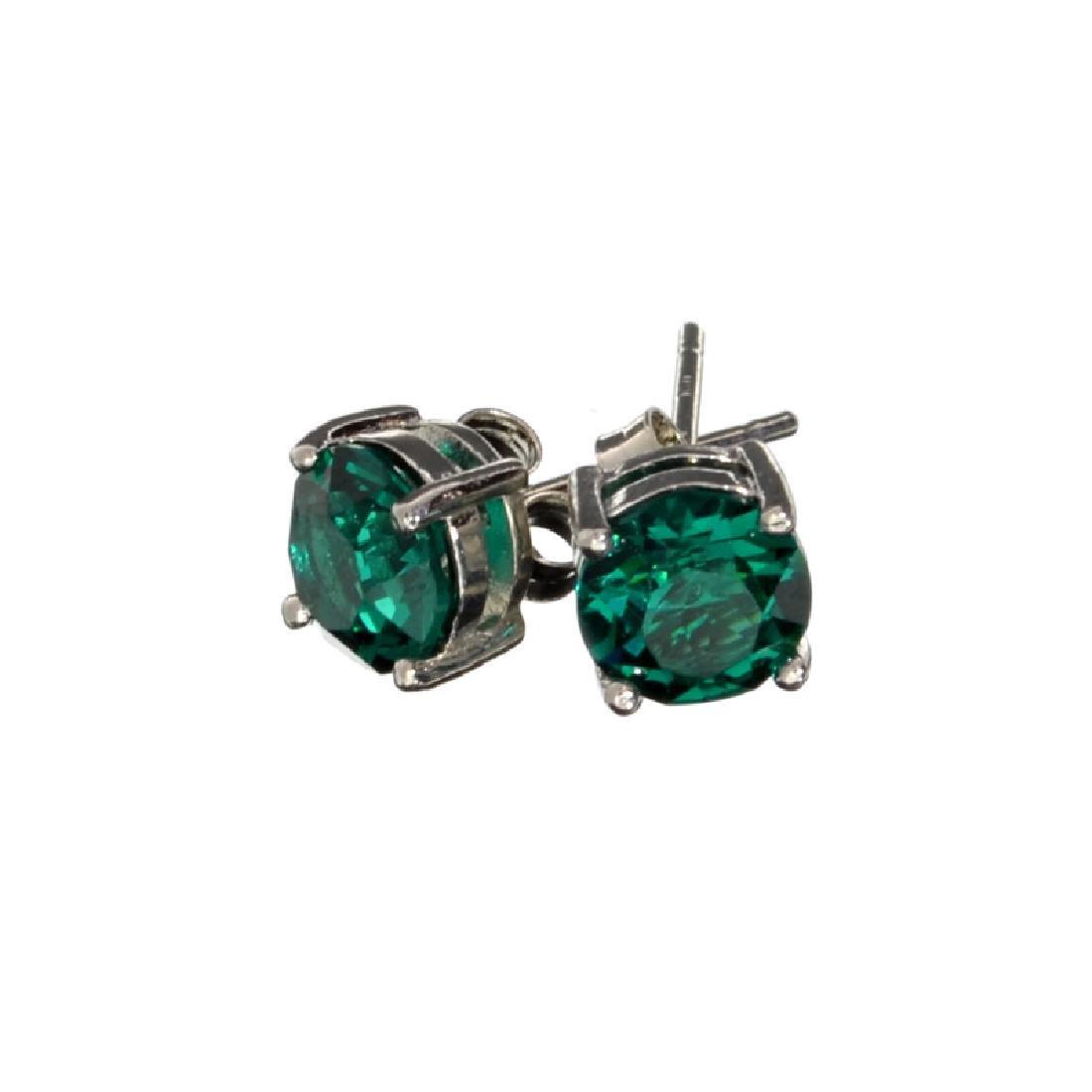 Silver Tone Swarovski Ements Earrings