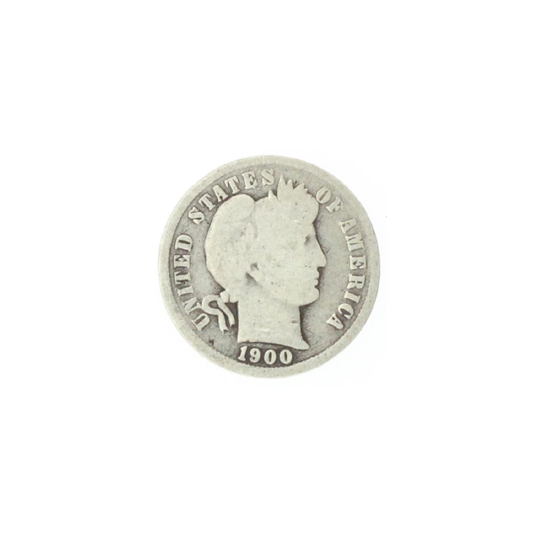 1900 Barber Head Dime Coin