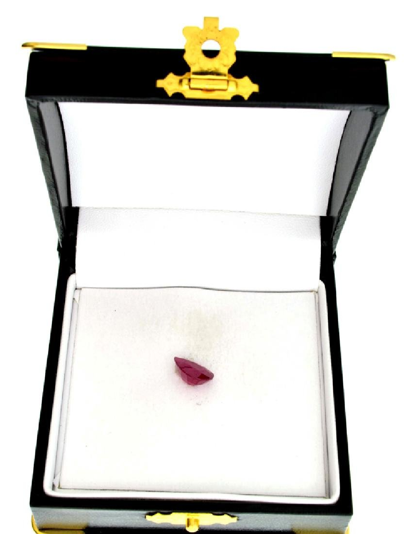 APP: 3.6k 3.61CT Pear Cut Ruby Gemstone