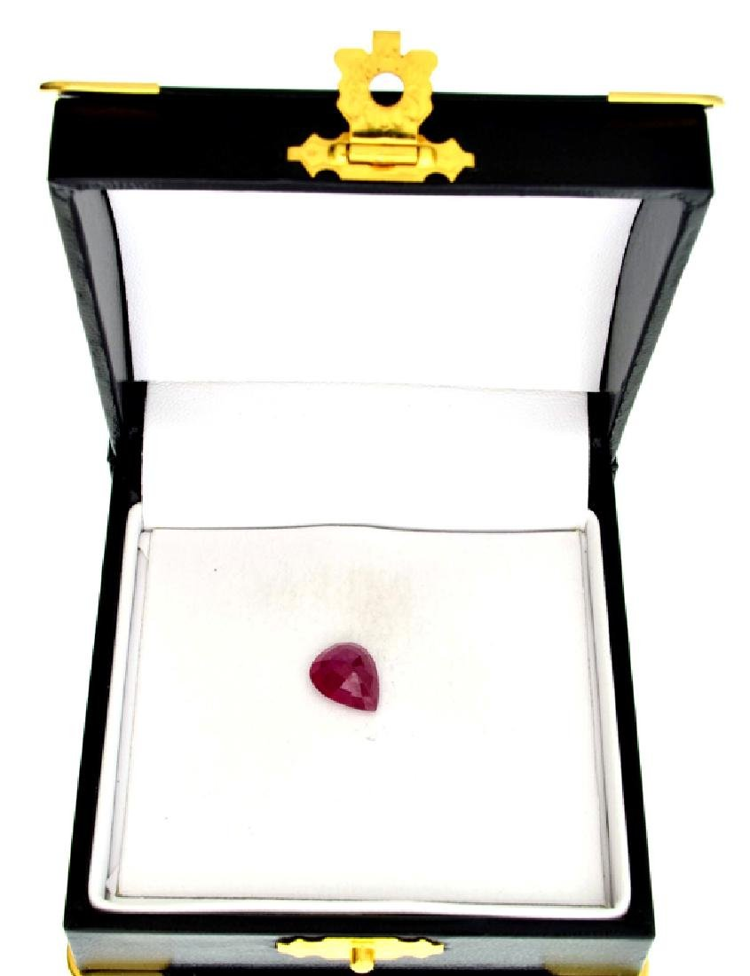 APP: 3.6k 3.61CT Pear Cut Ruby Gemstone - 2