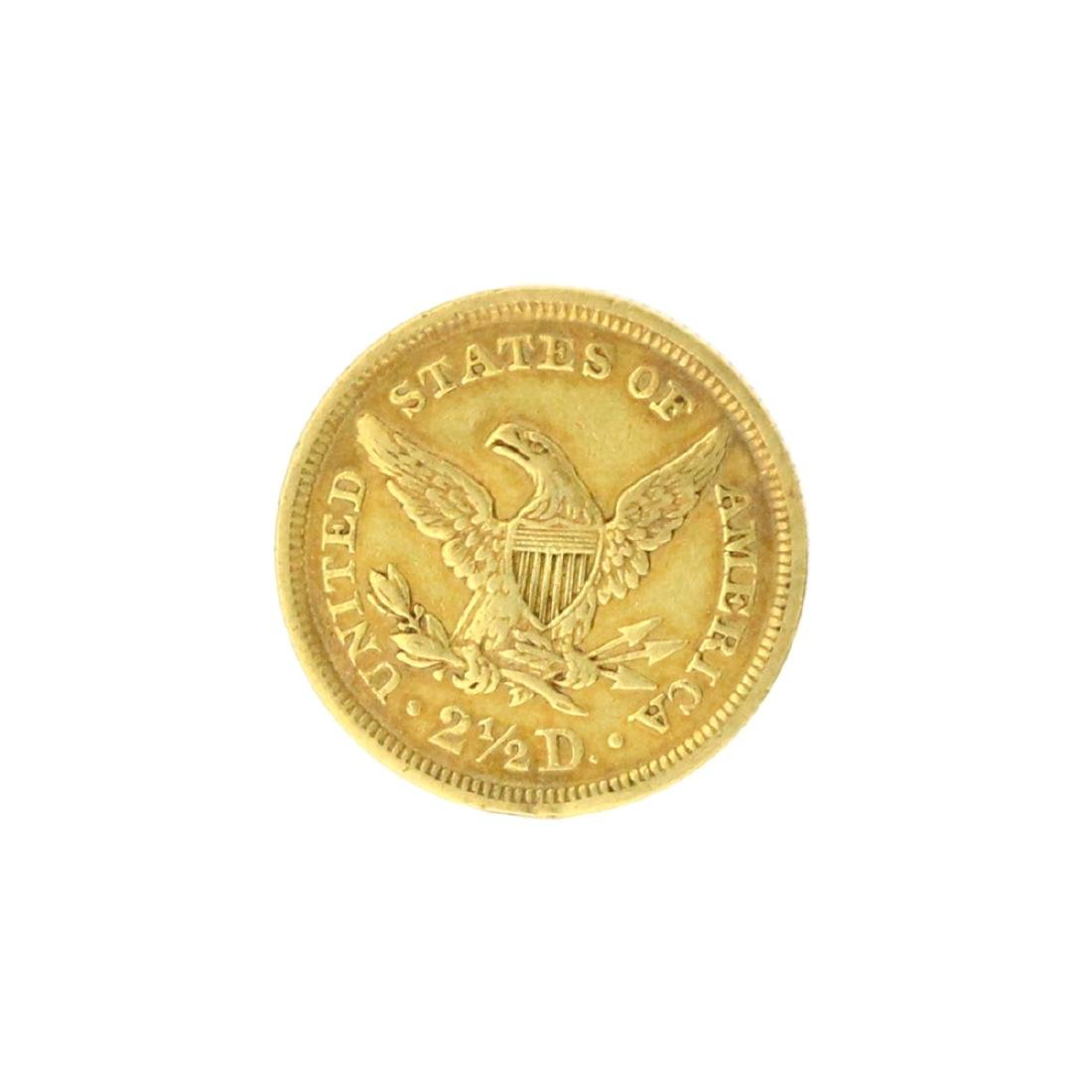 Extremely Rare 1843 $2.50 U.S. Liberty Head Gold Coin - 2