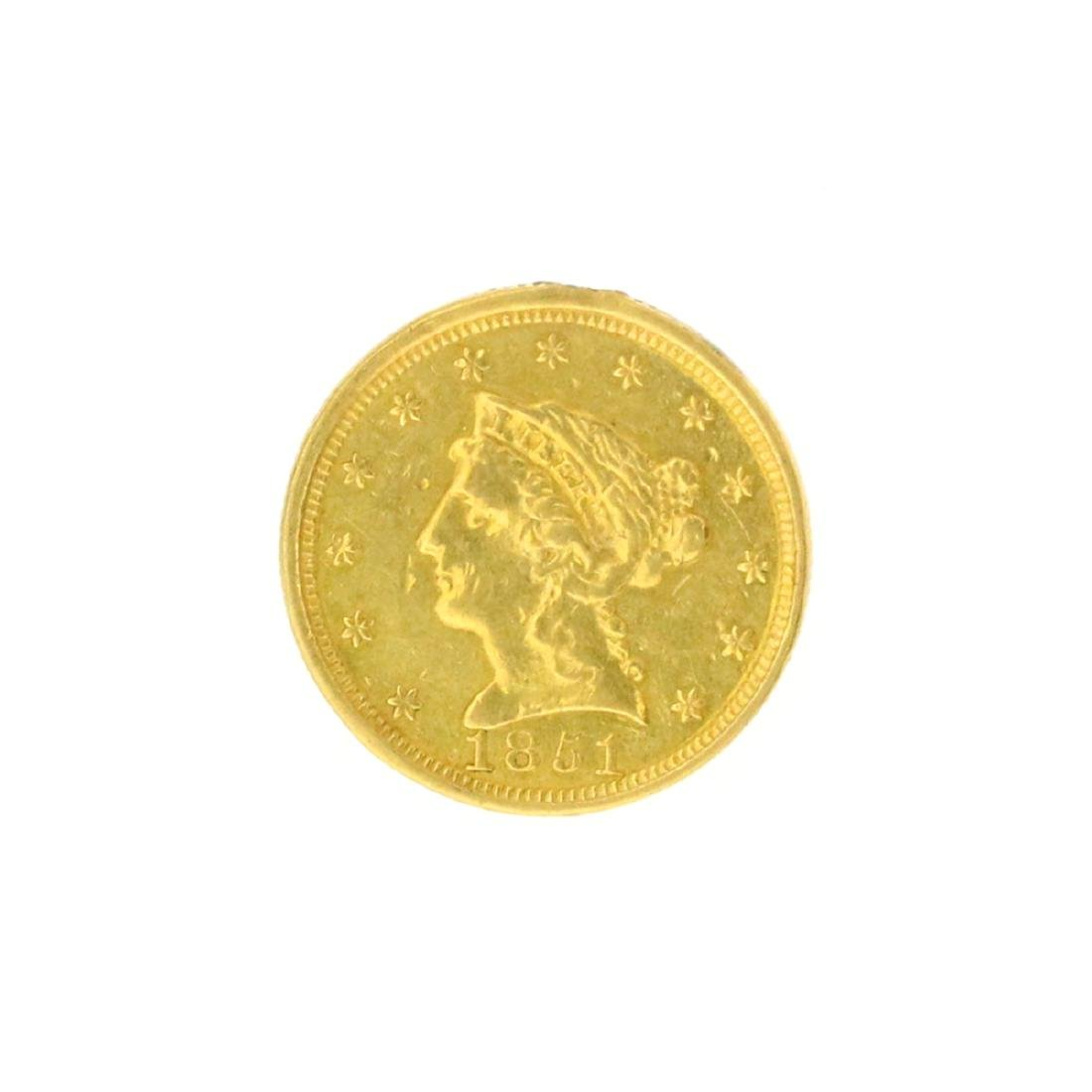 Extremely Rare 1851 $2.50 U.S. Liberty Head Gold Coin