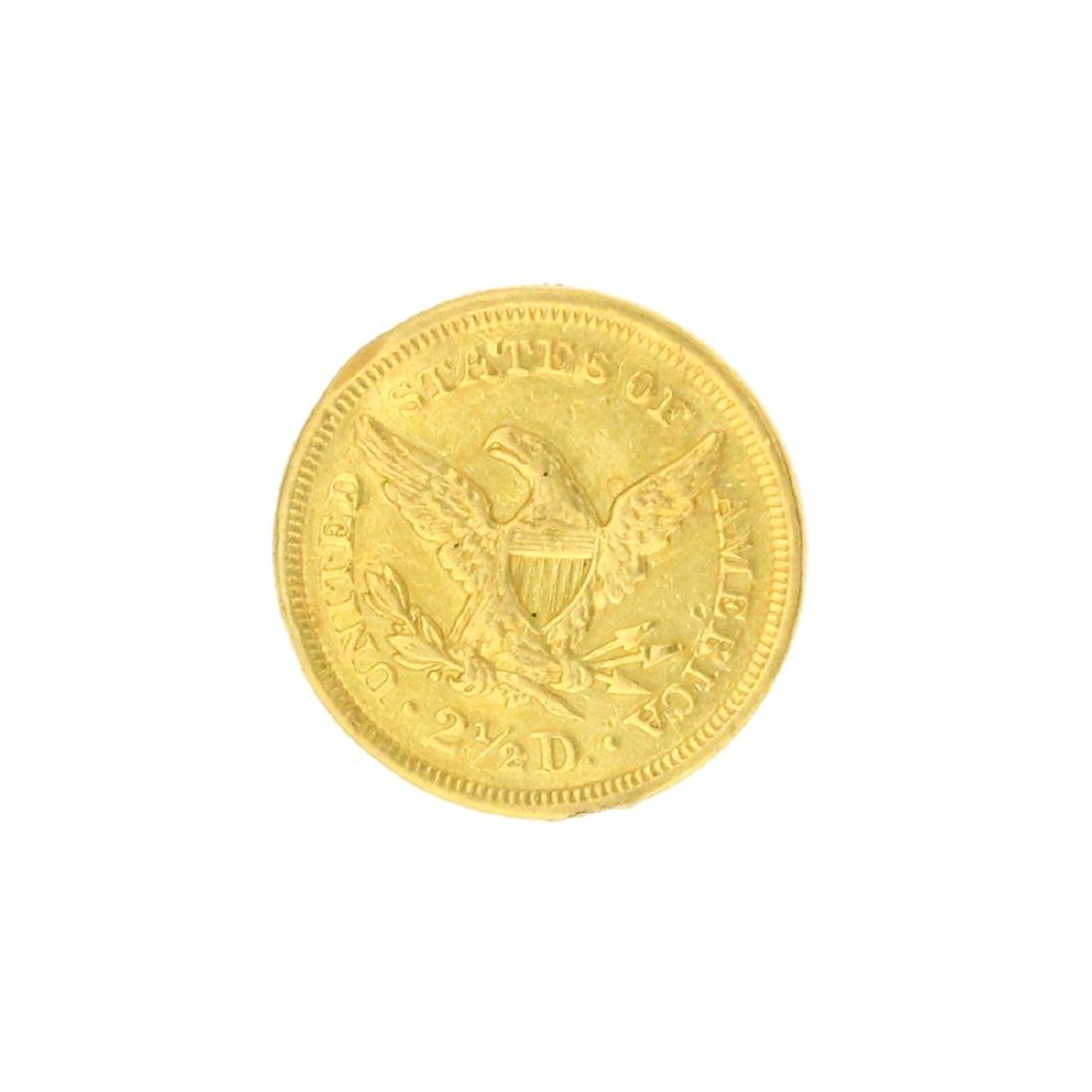 Extremely Rare 1851 $2.50 U.S. Liberty Head Gold Coin - 2