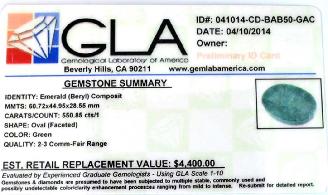 APP: 4.4k 550.85CT Oval Cut Green Beryl Emerald - 3