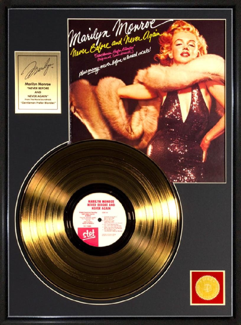 MARILYN MONROE ''Never Before and Never Again'' Gold