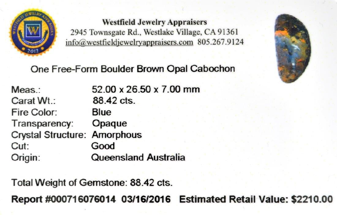 APP: 2.2k 88.42CT Free Form Cabochon Brown Boulder Opal - 2