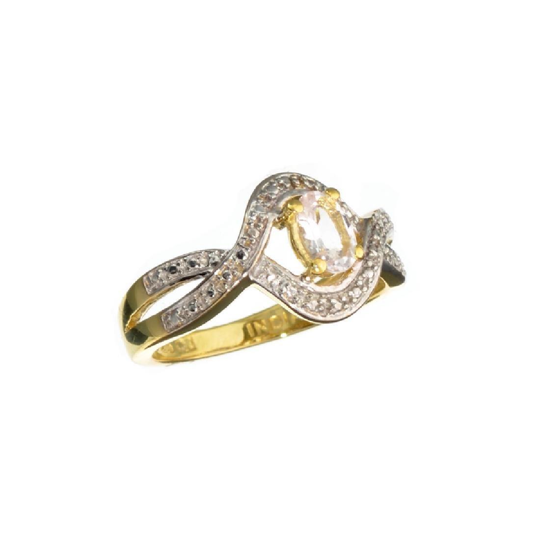APP: 0.5k Fine Jewelry 0.43CT Oval Cut Morganite Over
