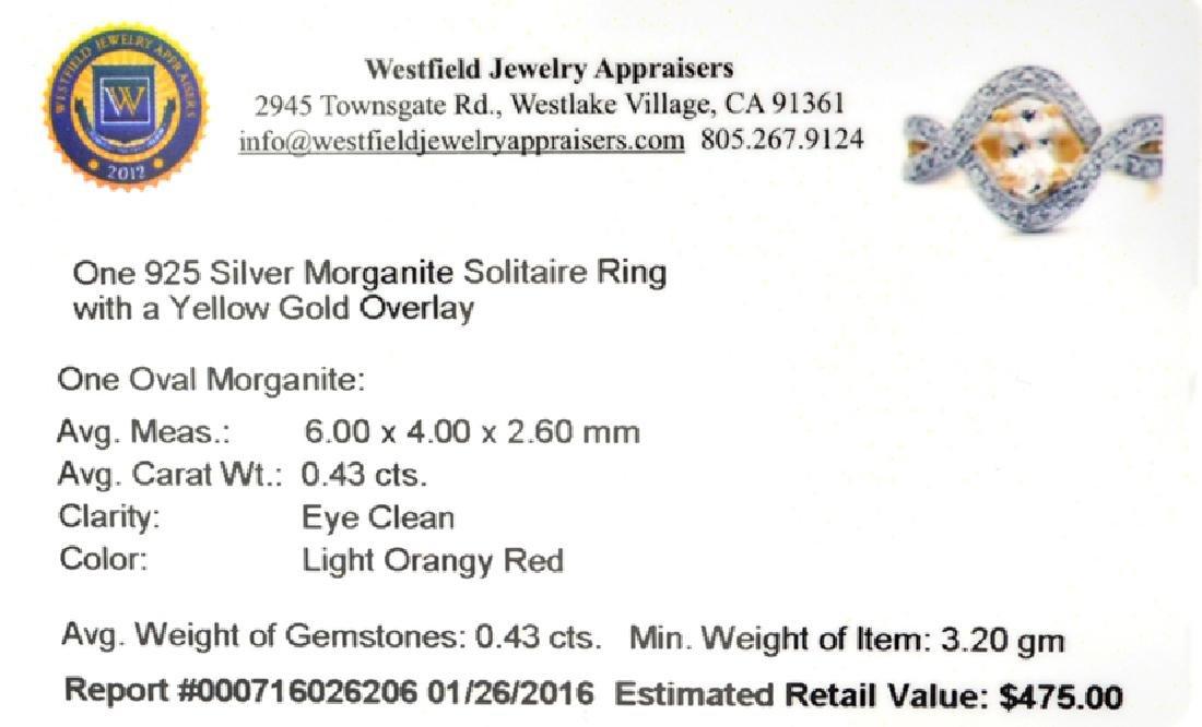 APP: 0.5k Fine Jewelry 0.43CT Oval Cut Morganite Over - 2