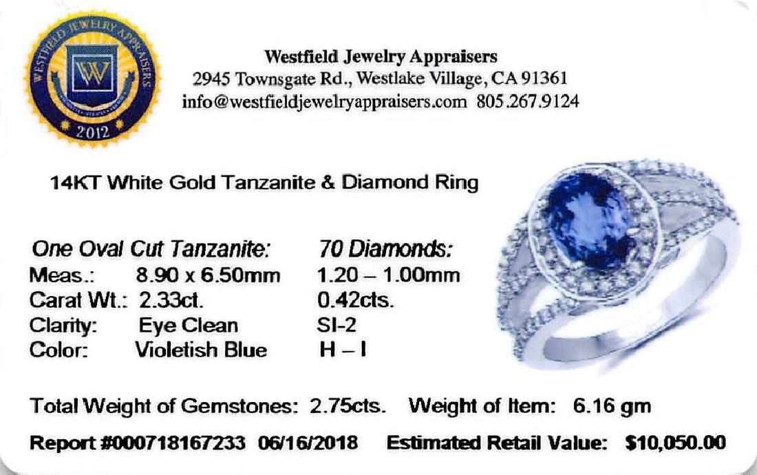APP: 10k *14K White Gold 2.33 Tanzanite and White - 2
