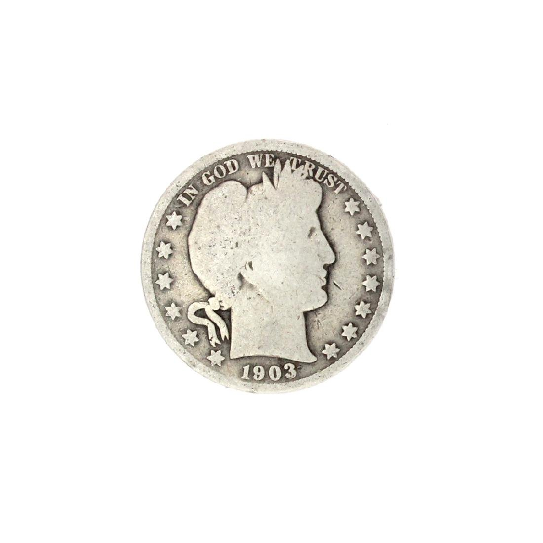 1903 Barber Head Half Dollar Coin