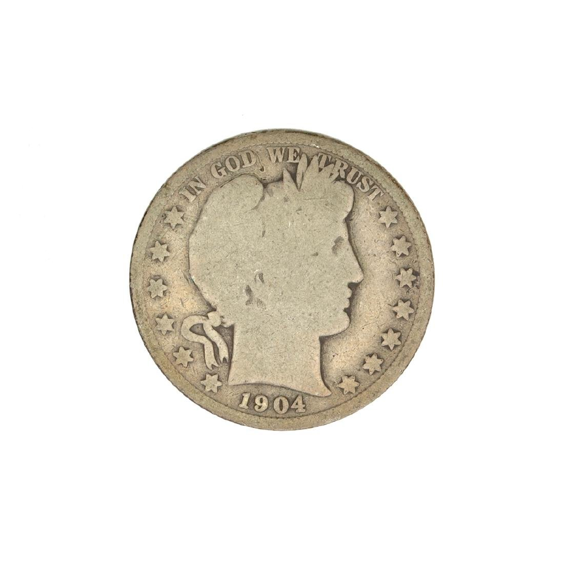 1904 Barber Head Half Dollar Coin