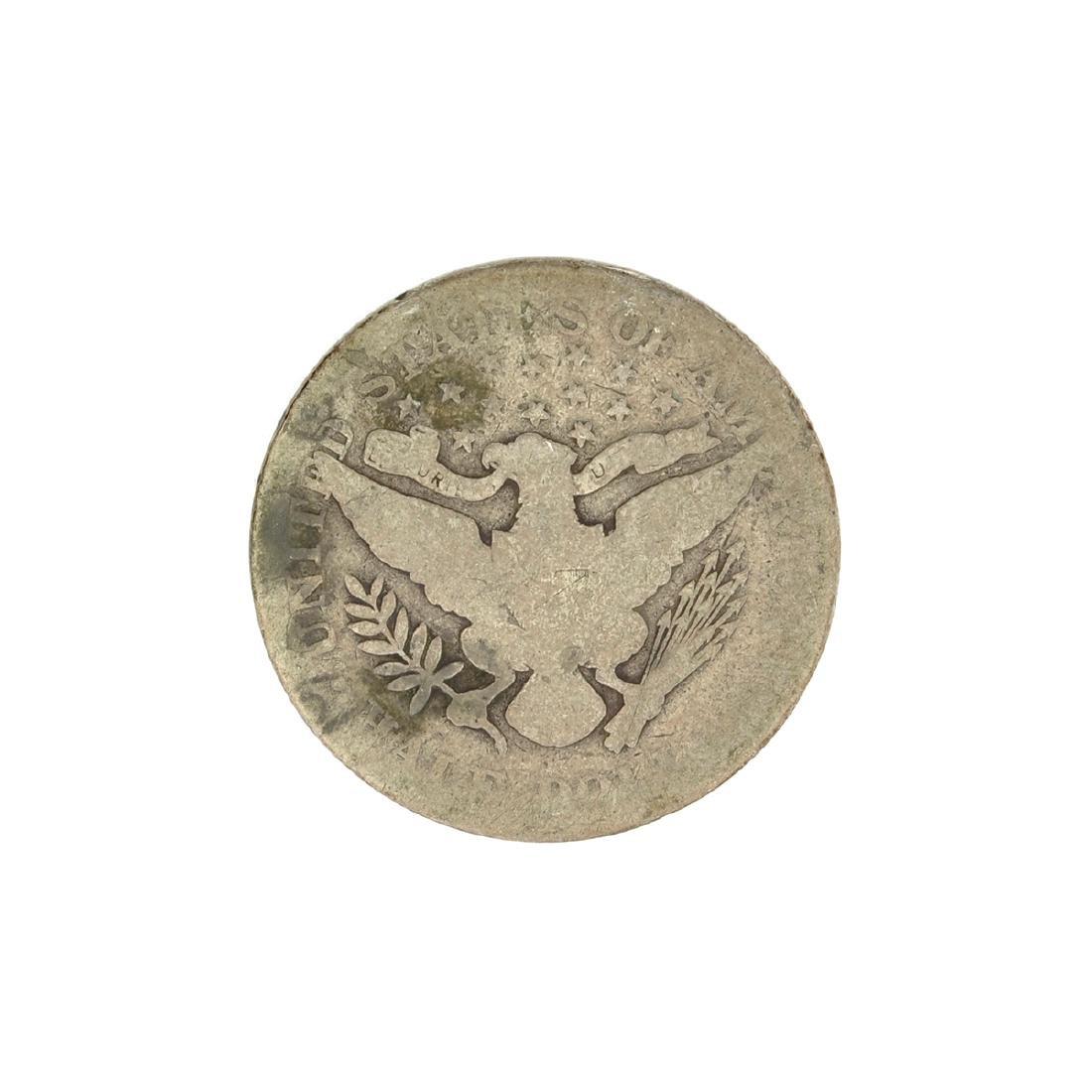 1904 Barber Head Half Dollar Coin - 2