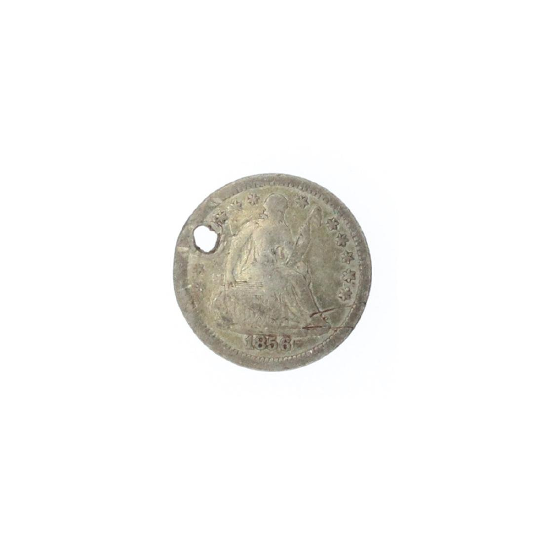1856 Liberty Seated Half Dime Coin