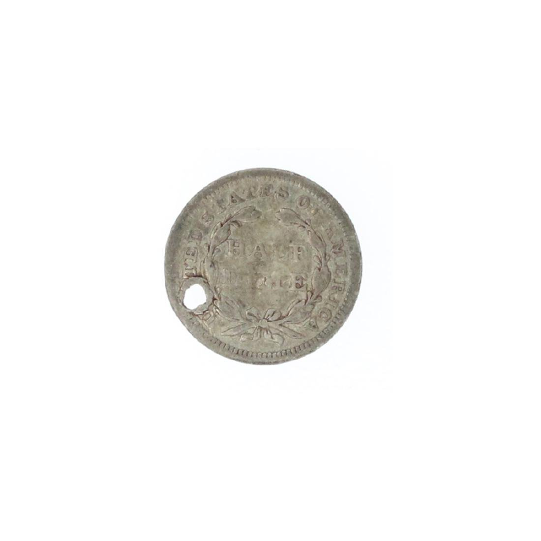 1856 Liberty Seated Half Dime Coin - 2
