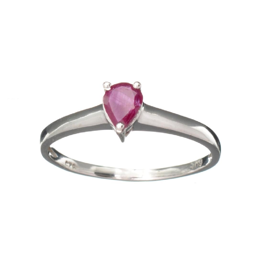 APP: 0.5k Fine Jewelry 0.25CT Pear Cut Ruby And