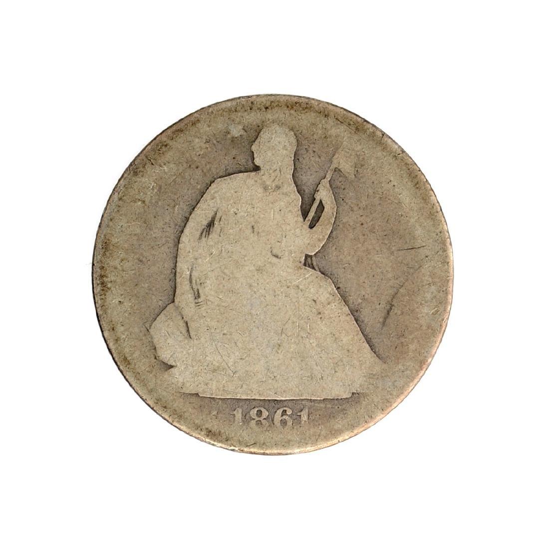 1861-O Liberty Seated Half Dollar Coin