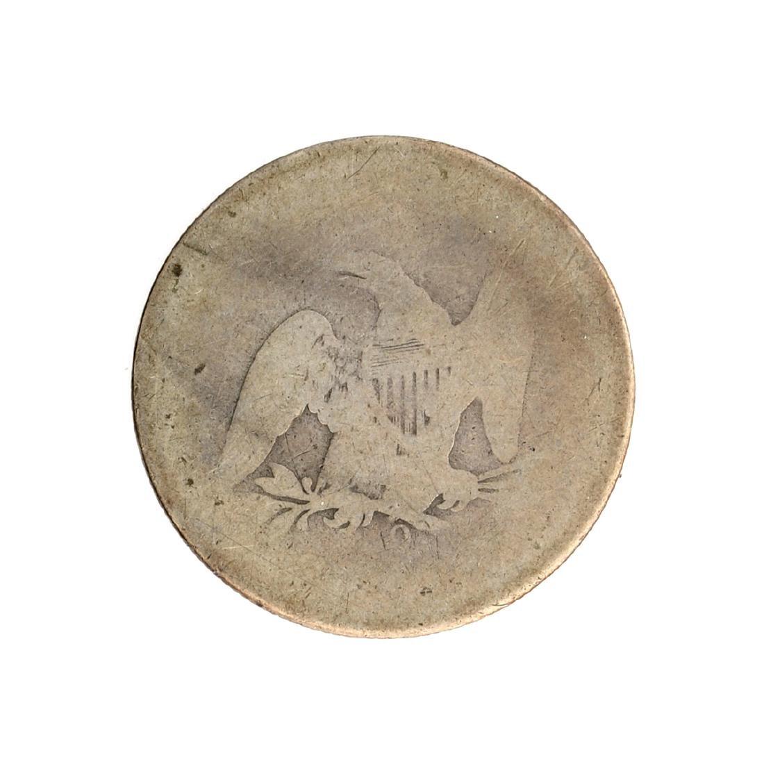 1861-O Liberty Seated Half Dollar Coin - 2