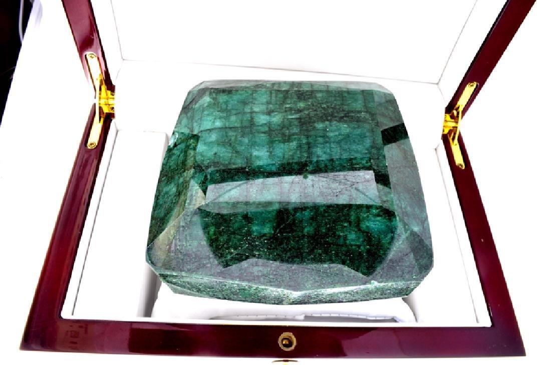 APP: 20.2k 5,481.00CT Cushion Cut Green Beryl Emerald