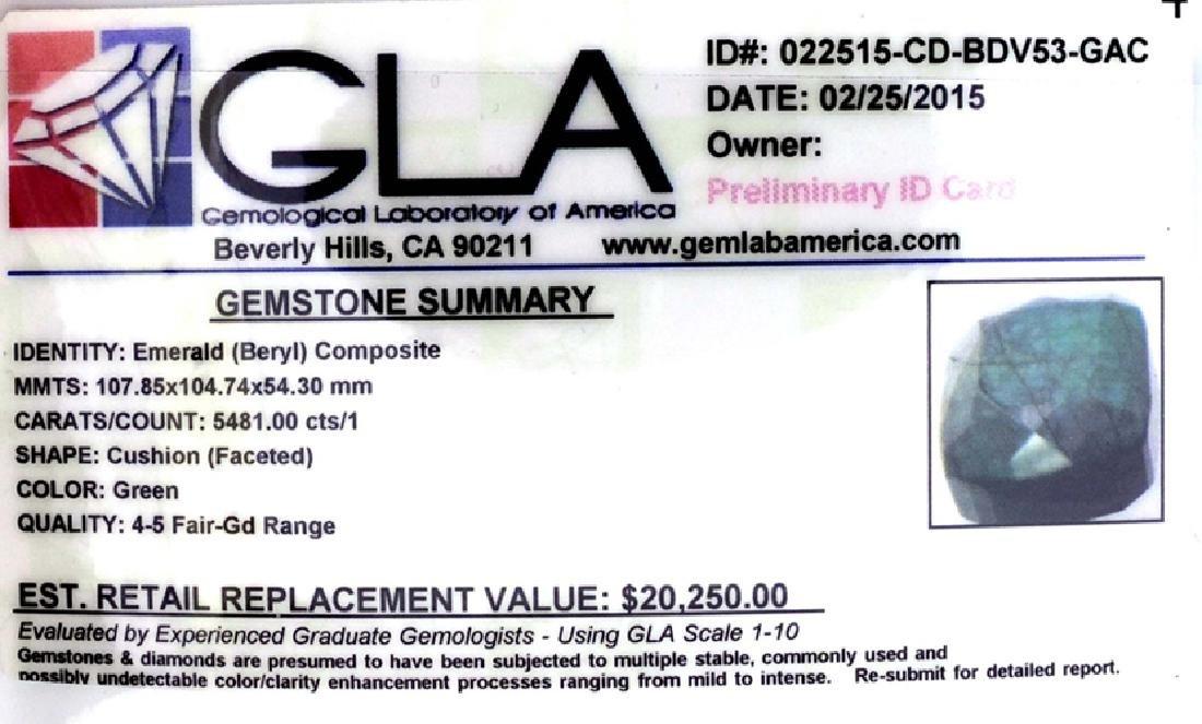 APP: 20.2k 5,481.00CT Cushion Cut Green Beryl Emerald - 3