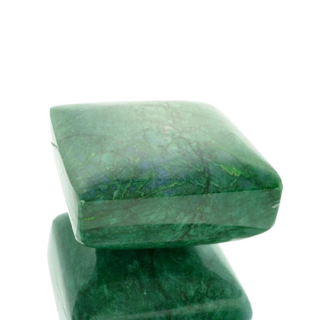 APP: 11.7k 3,856.00CT Square Cut Green Beryl Emerald