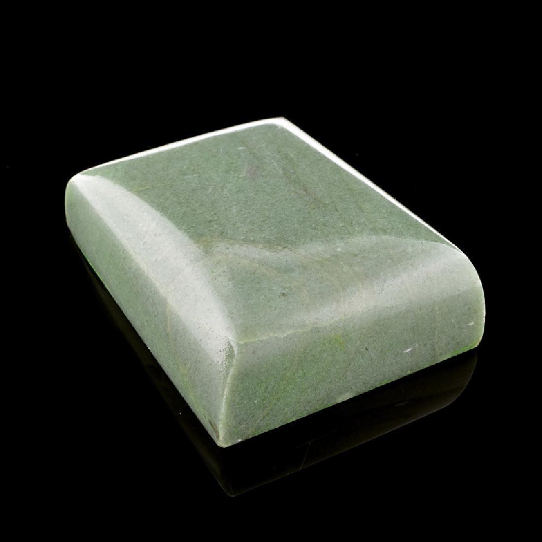 APP: 15.4k 1,397.00CT Rectangle Cut Guatemala Jade