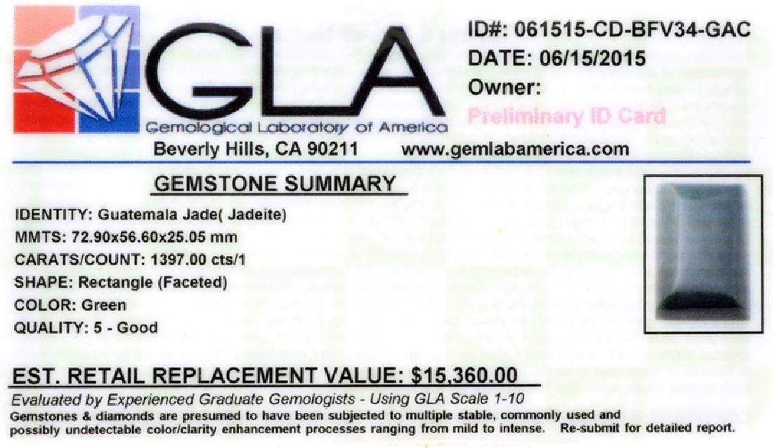 APP: 15.4k 1,397.00CT Rectangle Cut Guatemala Jade - 2