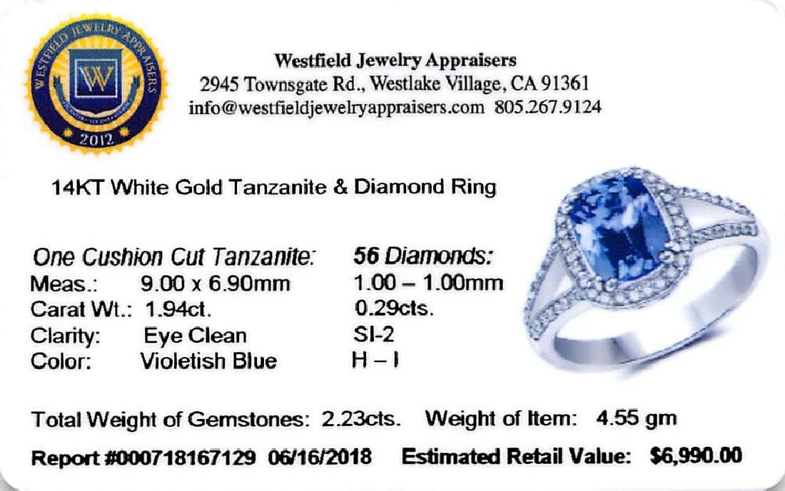 APP: 7k *14K White Gold 1.94 Tanzanite and White - 2
