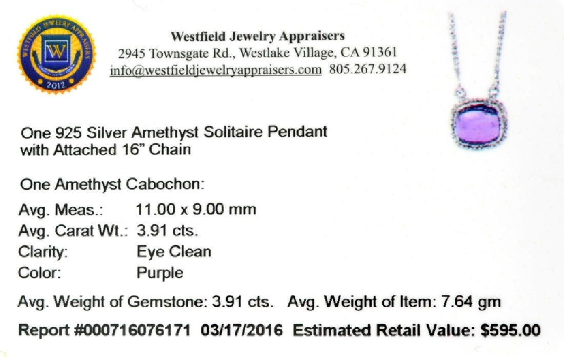 APP: 0.6k Fine Jewelry 3.91CT Cabochon Purple Amethyst - 2