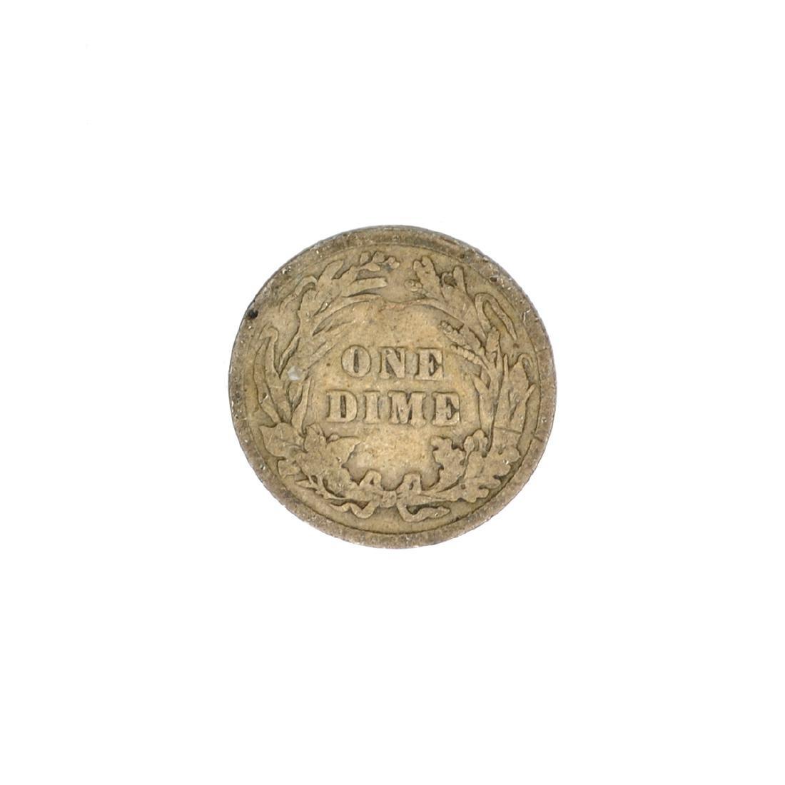 1907 Barber Head Dime Coin - 2
