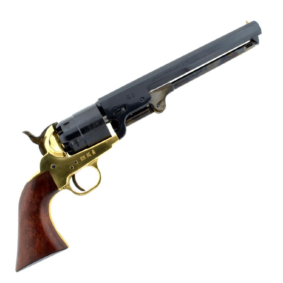 1851 Navy Revolver .44 Cal Brass Frame 7 1/2'' Blue - 2