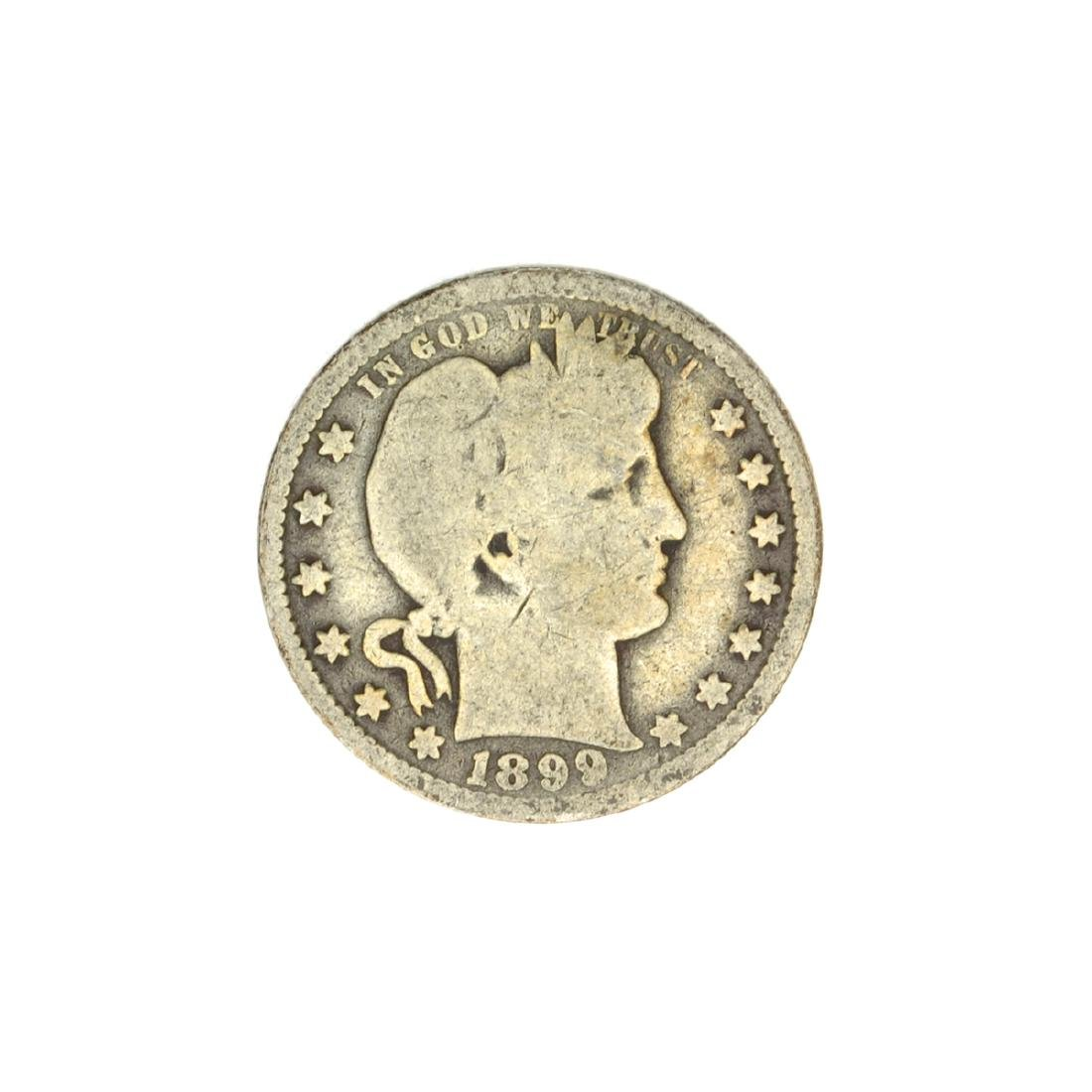1899-O Barber Head Quarter Dollar Coin