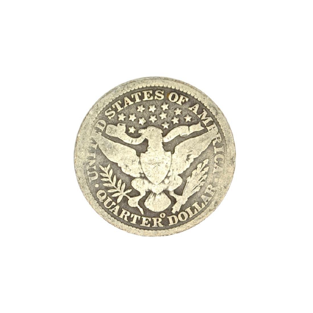 1899-O Barber Head Quarter Dollar Coin - 2