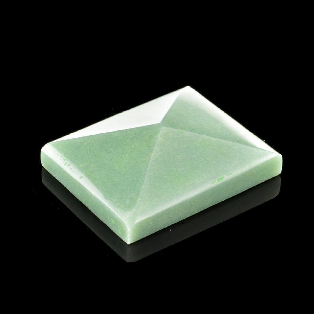 APP: 2.4k 96.50CT Rectangle Cut Guatemala Jade Gemstone