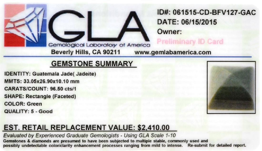 APP: 2.4k 96.50CT Rectangle Cut Guatemala Jade Gemstone - 2