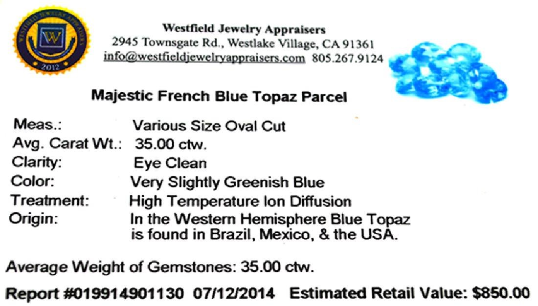 APP: 0.8k 35.00CT Oval Cut Majestic French Blue Topaz - 2